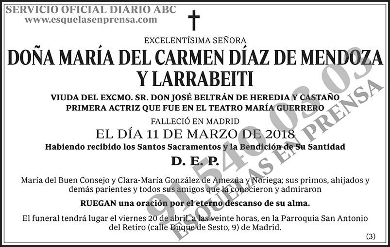 María del Carmen Díaz de Mendoza y Larrabeiti